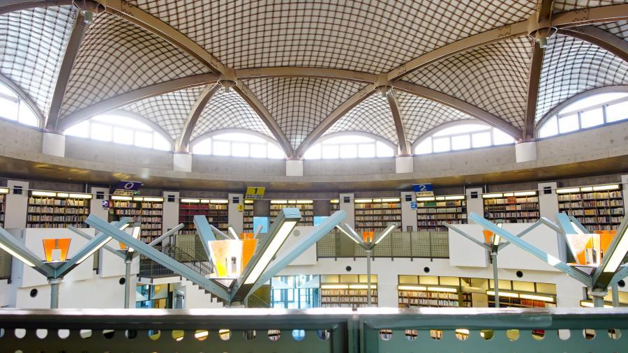 茨城縣水戶市立西部圖書館閱覽室2樓